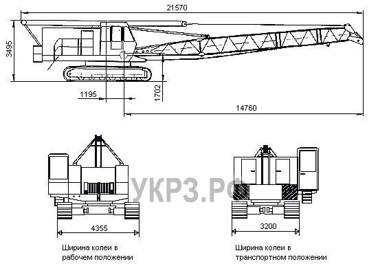 Габаритные размеры ДЭК-321