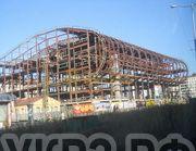 б/у восстановленный гусеничный кран ДЭК-631 в Норильске на строительстве спортивно-развлекательного комплекса «Арена»