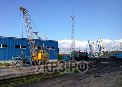 Кран РДК-250 на испытаниях после ремонта на УКРЗ Порт Высоцкий г. Высоцк Ленинградской области